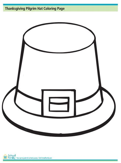 coloring page pilgrim hat 115 best thanksgiving images on pinterest thanksgiving