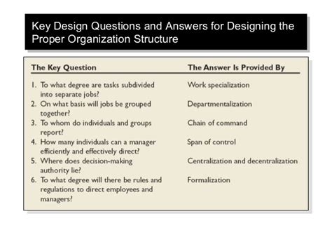 layout questions and answers foundation of organizational structure