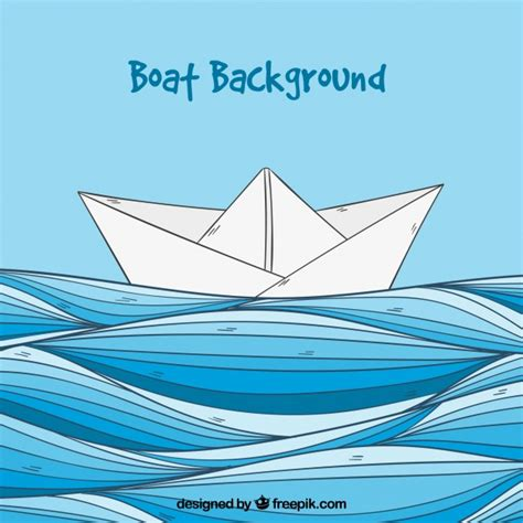 decorative paper boat decorative background with paper boat vector free download