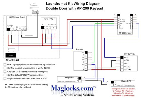 magnetic door lock wiring diagram complete door laundromat magnetic lock kit with