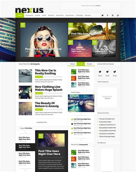 Theme Wordpress Nexus | th 232 me wordpress nexus wp themes wordpress