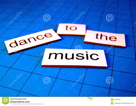 dance to the music dance to the music stock photo image of blue motivational 4534442