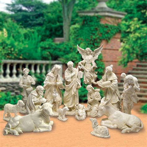 large outdoor nativity clearance joseph s studio collection 14 garden nativity set