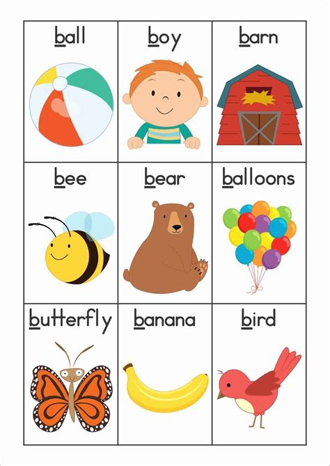 Words That Begin With The Letter B