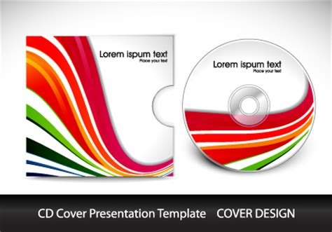cd design template cd cover presentation vector template material 08 vector