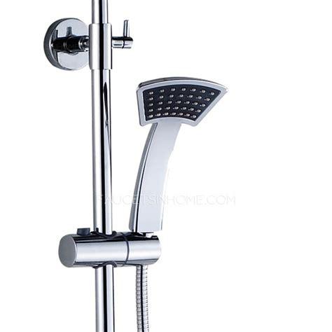 designed sector held shower faucet system
