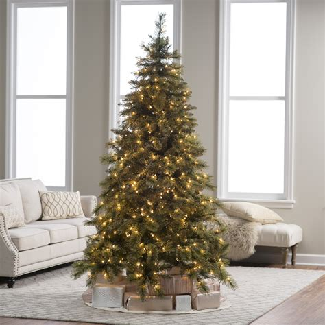 christmas trees from bunnings 7 5 ft pre lit mixed needle gold glitter pine tree by sterling tree company