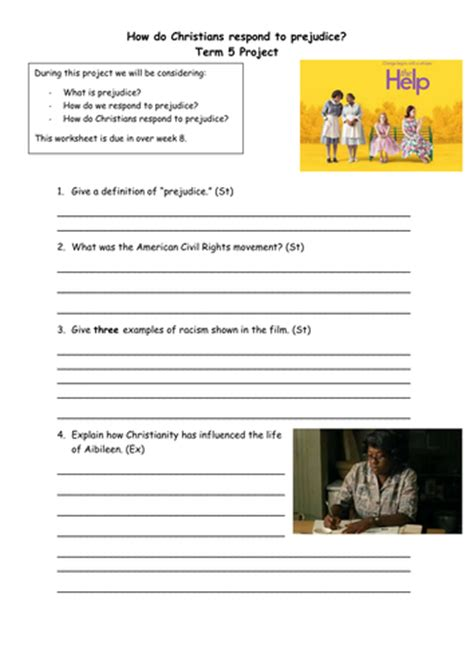 film quiz worksheet the help film question pack by katiewillz teaching