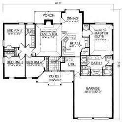 Split Bedroom Floor Plans Split Bedroom House Plan 7431rd 1st Floor Master Suite Butler Walk In Pantry Cad Available