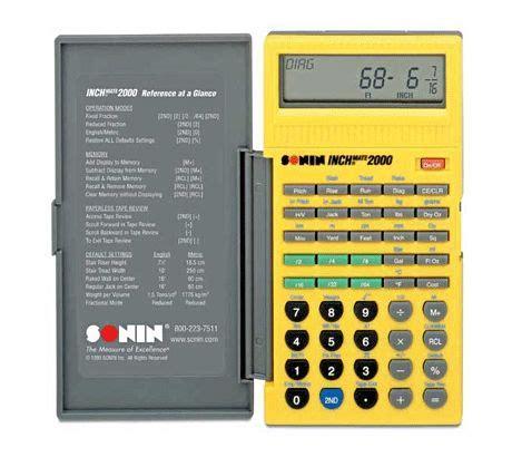 sonin inch mate 2000 construction conversion calculator