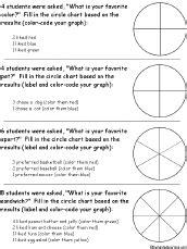 pie chart worksheet printout #1 enchantedlearning.com