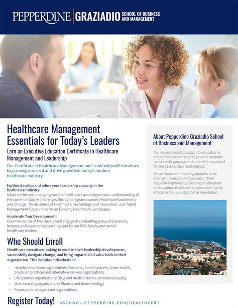 Executive Mba Programs In Healthcare by Certificate In Healthcare Management And Leadership
