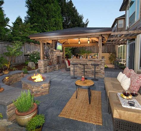 covered backyard patio ideas best 20 covered outdoor kitchens ideas on