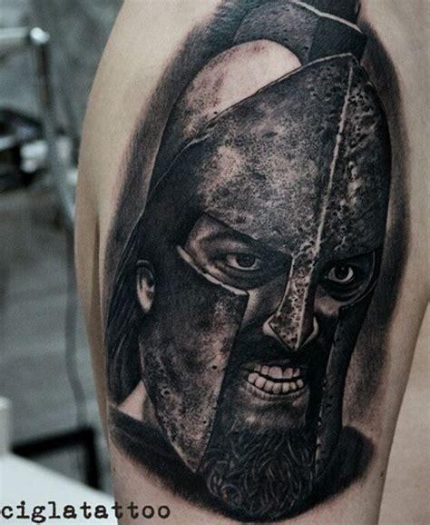 leonidas tattoo black gray leonidas inkstylemag