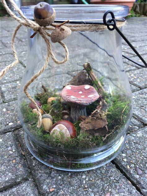 Herbstdeko Zum Basteln by Diy Herbstdeko Basteln Wald Im Glas Herbst Dekoration
