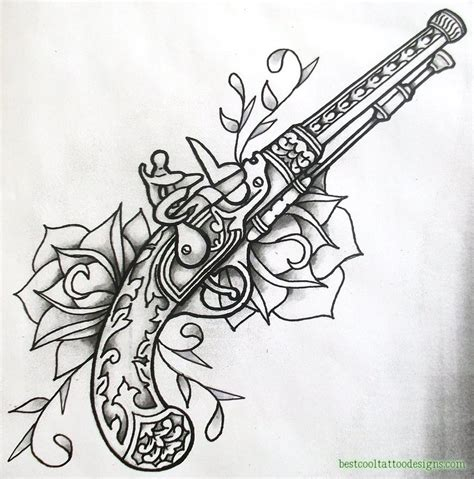 tribal gun tattoo designs gun designs flash best cool designs
