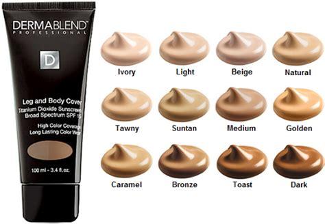 dermablend color chart dermablend leg and makeup liquid foundation spf 25