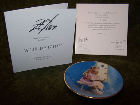 Zolan Set donald zolan ltd ed 4 plate set signed coa