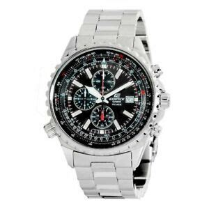 casio mens edifice stainless steel multi function