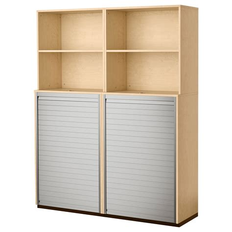 panels for ikea furniture galant storage combination with roll front birch veneer