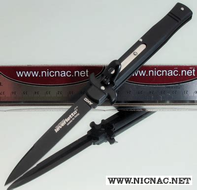 italian switchblade leverletto bill deshivs all black