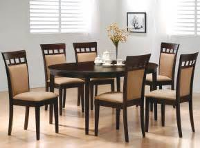 Dining Room Table With Chairs by Coaster Mix And Match Cappuccino Oval Dining Table 100770