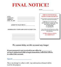 Sle Letter To Debt Collection Agency collection letter exle should be used as a