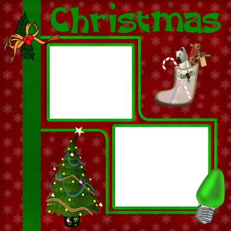 wrapped for life christmas scrapbook layout 1