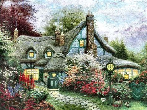 kinkade cottage quot sweetheart cottage quot by kinkade 1 28 14