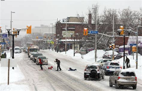 in photos snow storm descends on montreal ottawa and