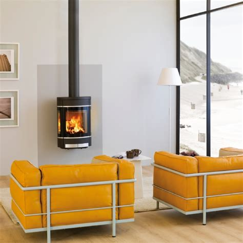 scan dsa 5 in open plan bedroom wood burning stove