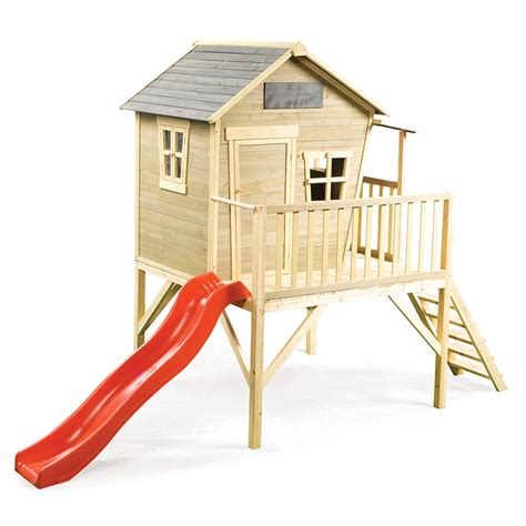 cubby house with slide and swings swing slide climb 140 x 368 x 253cm timber outback cubby