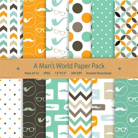 How To Make A Paper Moustache - digital paper fathers day moustache digital