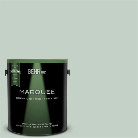 behr marquee 1 gal ppu11 13 frosted jade semi gloss