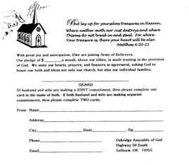 Church Pledge Form Template by Fundraising Pledge Card Cake Ideas And Designs