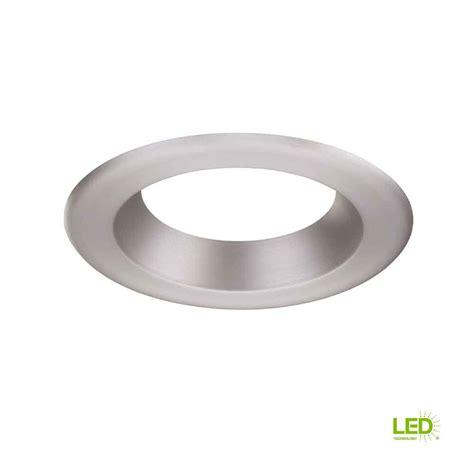 6 brushed nickel recessed light trim envirolite 6 in decorative brushed nickel trim ring for