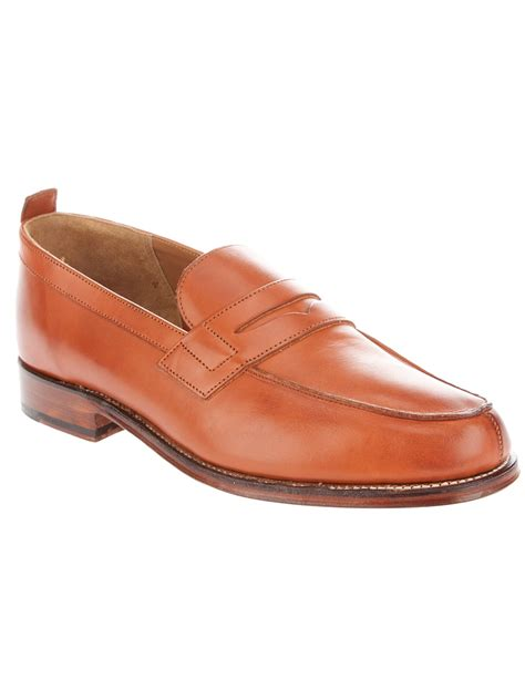 shoe loafer grenson loafer shoe in brown for lyst