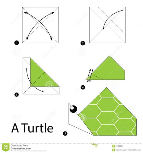 How To Make An Origami Turtle - step by step how to make origami a turtle
