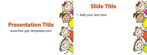 Kids Ppt Template Free Powerpoint Templates Powerpoint Templates For Children