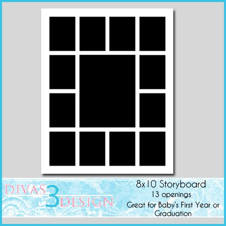 8x10 Photo Collage Template 8x10 Scrapbook Template Baby S Photo Album Ideas Pinterest 12 Month Photo Collage Template