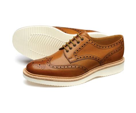 a stylish brogue shoe hal features a lightweight