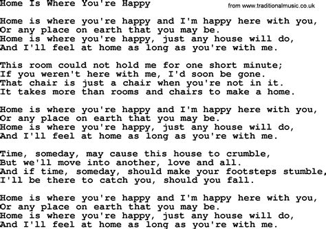 willie nelson song home is where you re happy lyrics