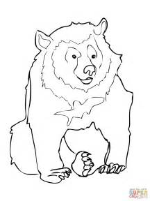 moon bear coloring pages asiatic black bear coloring page free printable coloring