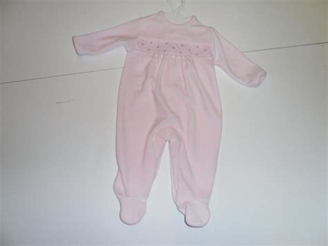 Velour Baby Sleepers by Velour Sleeper With Smocking Accross Yoke Martin Agency