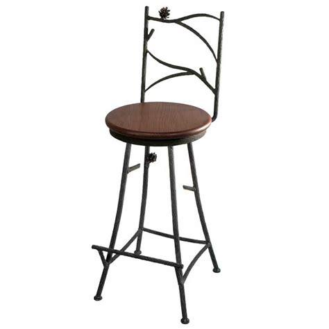 Rustic Iron Bar Stools by Alternative Views