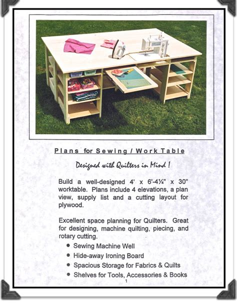 Quilting Table Plans by Keepsake Quilting Sewing Table Plans For Woodworking By