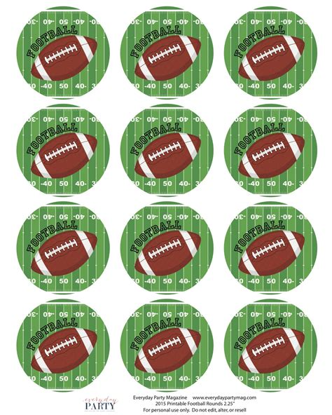 printable images of a football football party printables everyday party magazine