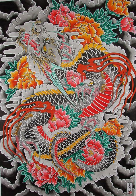 18 best dragons images on pinterest japanese dragon japanese dragon kf2o1 500 jpg 500 215 721 tribal dragons