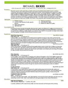 Brake Operator Sle Resume by Parts Cleaner And Press Brake Operator Resume Exle Oneal Houston
