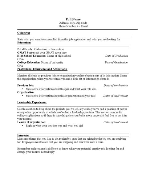 how to build your resume for studying and working in the